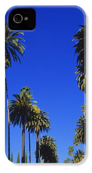 Palm Trees Along A Road, Beverly Hills IPhone 4 / 4s Case by Panoramic Images