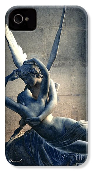 Paris Eros And Psyche Romantic Lovers - Paris In Love Eros And Psyche Louvre Sculpture  IPhone 4 / 4s Case by Kathy Fornal