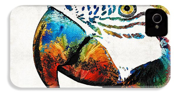 Parrot Head Art By Sharon Cummings IPhone 4 / 4s Case by Sharon Cummings
