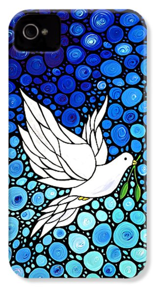 Peaceful Journey - White Dove Peace Art IPhone 4 / 4s Case by Sharon Cummings
