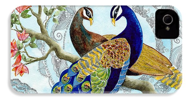Peacock Love IPhone 4 / 4s Case by Susy Soulies