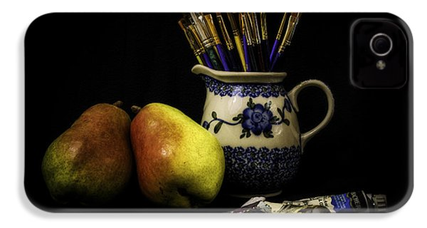 Pears And Paints Still Life IPhone 4 / 4s Case by Jon Woodhams