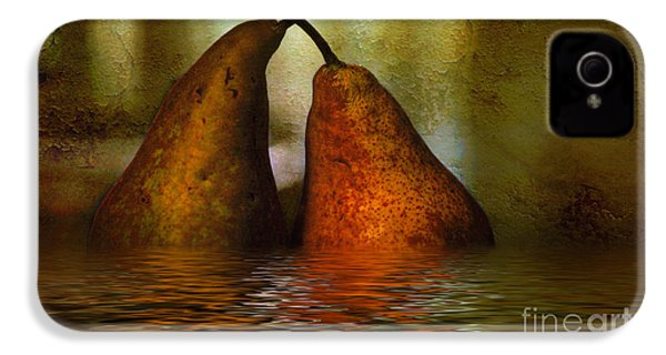 Pears In Water IPhone 4 / 4s Case by Kaye Menner