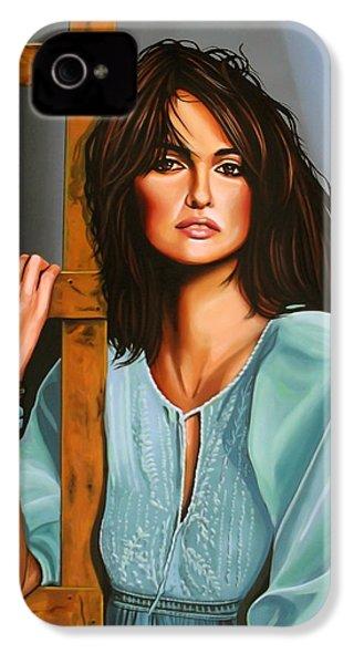 Penelope Cruz IPhone 4 / 4s Case by Paul Meijering