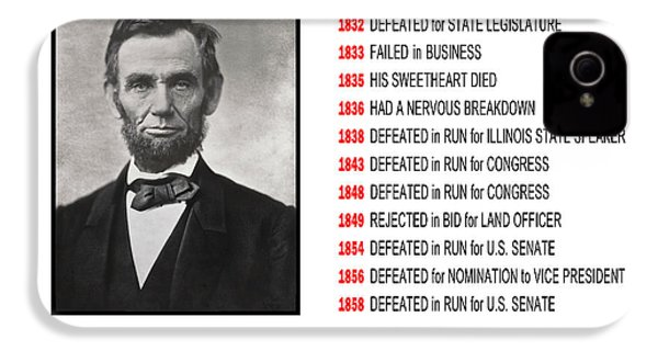 Perseverance Of Abraham Lincoln IPhone 4 / 4s Case by Daniel Hagerman