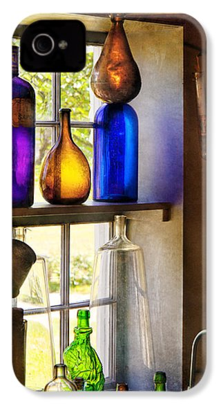 Pharmacy - Colorful Glassware  IPhone 4 / 4s Case by Mike Savad