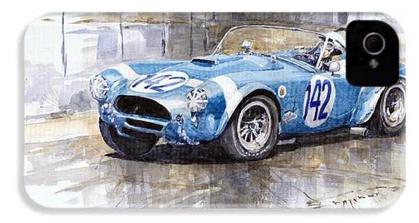 Phil Hill Ac Cobra-ford Targa Florio 1964 IPhone 4 / 4s Case by Yuriy Shevchuk