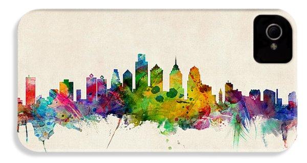Philadelphia Skyline IPhone 4 / 4s Case by Michael Tompsett