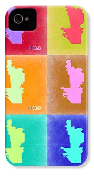 Phoenix Pop Art Map 3 IPhone 4 / 4s Case by Naxart Studio