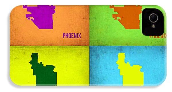 Phoenix Pop Art Map IPhone 4 / 4s Case by Naxart Studio