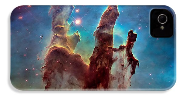 Pillars Of Creation In High Definition - Eagle Nebula IPhone 4 / 4s Case by The  Vault - Jennifer Rondinelli Reilly
