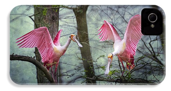 Pink Wings In The Swamp IPhone 4 / 4s Case by Bonnie Barry