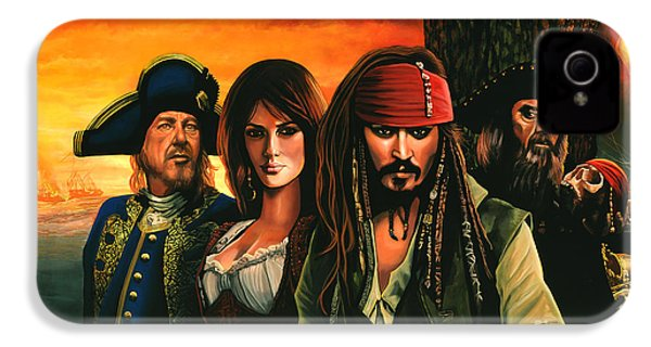 Pirates Of The Caribbean  IPhone 4 / 4s Case by Paul Meijering
