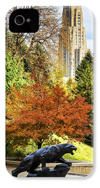 Pitt Panther And Cathedral Of Learning IPhone 4 / 4s Case by Thomas R Fletcher