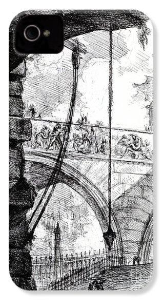 Plate 4 From The Carceri Series IPhone 4 / 4s Case by Giovanni Battista Piranesi