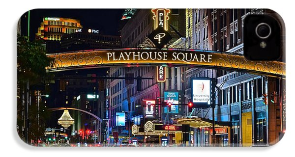 Playhouse Square IPhone 4 / 4s Case by Frozen in Time Fine Art Photography