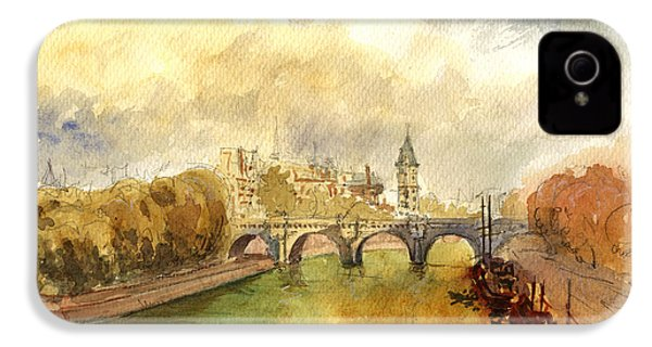 Ponte Neuf Paris IPhone 4 / 4s Case by Juan  Bosco