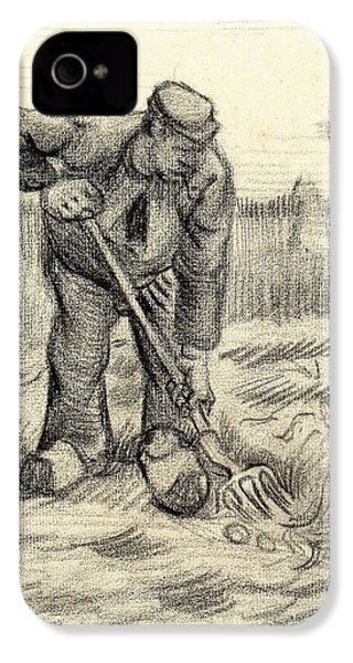 Potato Gatherer IPhone 4 / 4s Case by Vincent Van Gogh