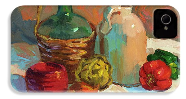Pottery And Vegetables IPhone 4 / 4s Case by Diane McClary