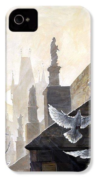 Prague Morning On The Charles Bridge  IPhone 4 / 4s Case by Yuriy Shevchuk