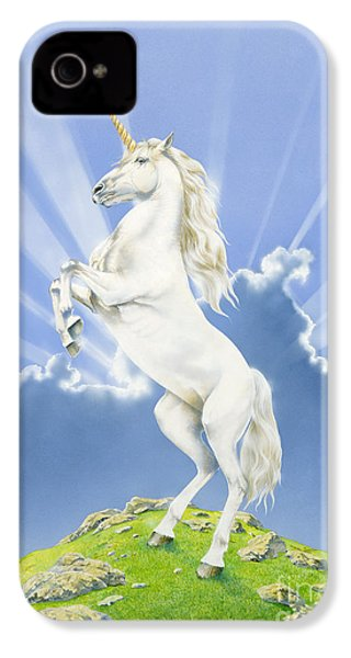Prancing Unicorn IPhone 4 / 4s Case by Irvine Peacock