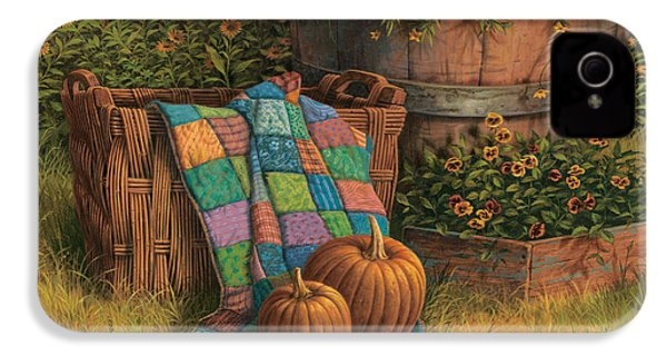 Pumpkins And Patches IPhone 4 / 4s Case by Michael Humphries