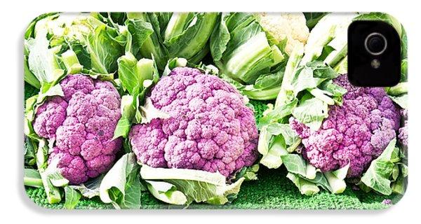 Purple Cauliflower IPhone 4 / 4s Case by Tom Gowanlock