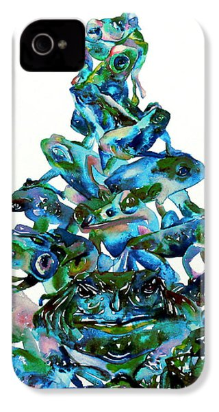 Pyramid Of Frogs And Toads IPhone 4 / 4s Case by Fabrizio Cassetta