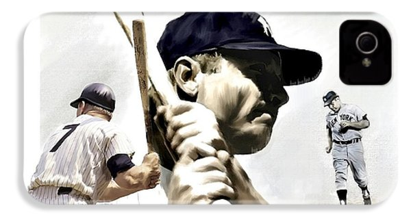 Quality Of Greatness Mickey Mantle IPhone 4 / 4s Case by Iconic Images Art Gallery David Pucciarelli