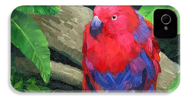 Red Bird IPhone 4 / 4s Case by Alice Leggett