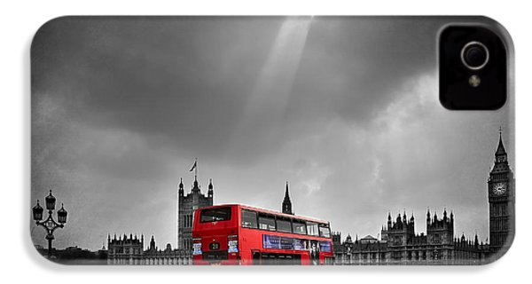 Red Bus IPhone 4 / 4s Case by Svetlana Sewell