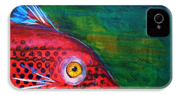 Red Fish IPhone 4 / 4s Case by Nancy Merkle