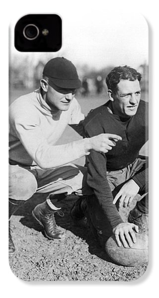 Red Grange And His Coach IPhone 4 / 4s Case by Underwood Archives