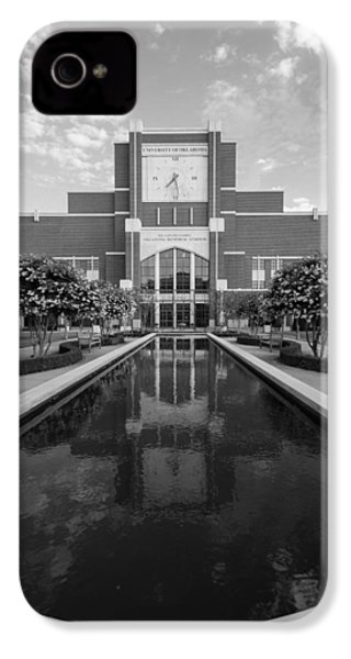 Reflecting Pond Outside Of Oklahoma Memorial Stadium IPhone 4 / 4s Case by Nathan Hillis