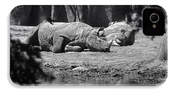 Rhino Nap Time IPhone 4 / 4s Case by Thomas Woolworth