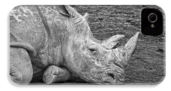 Rhinoceros IPhone 4 / 4s Case by Nancy Aurand-Humpf