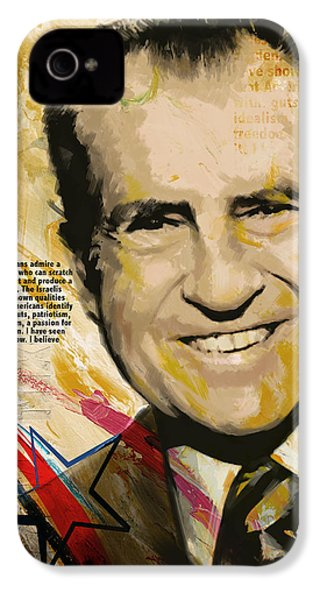 Richard Nixon IPhone 4 / 4s Case by Corporate Art Task Force