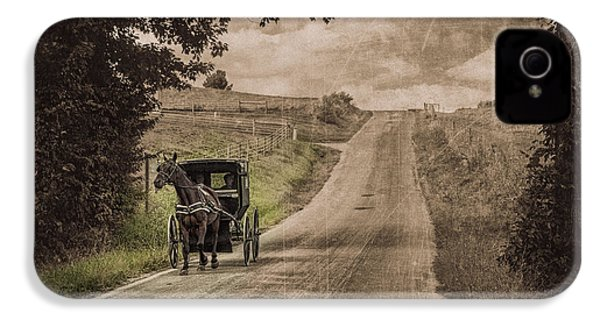 Riding Down A Country Road IPhone 4 / 4s Case by Tom Mc Nemar