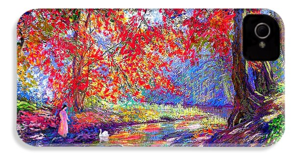 River Of Life, Colors Of Fall IPhone 4 / 4s Case by Jane Small