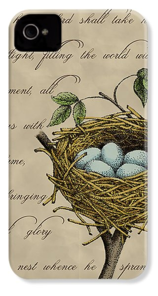 Robin's Nest IPhone 4 / 4s Case by Christy Beckwith