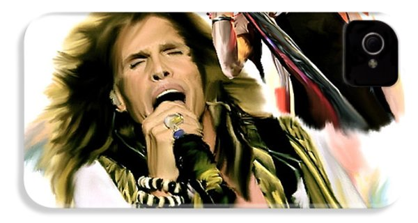 Rocks Gothic Lion II  Steven Tyler IPhone 4 / 4s Case by Iconic Images Art Gallery David Pucciarelli