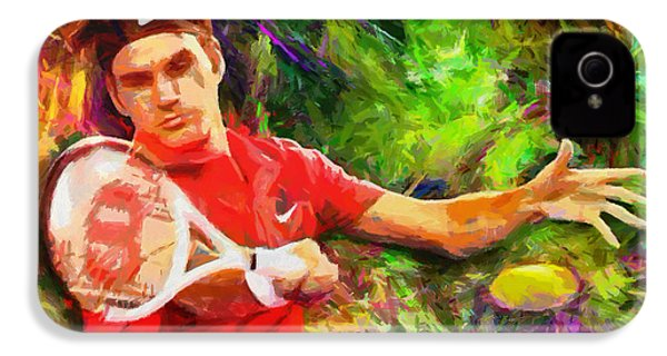 Roger Federer IPhone 4 / 4s Case by RochVanh