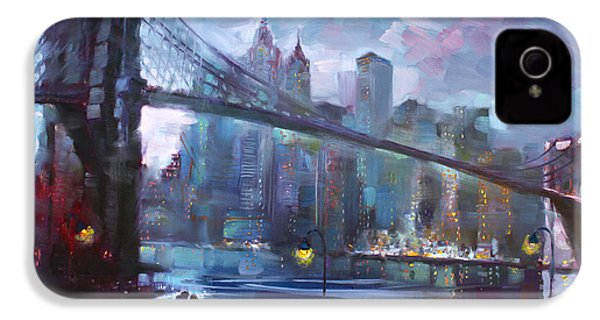 Romance By East River II IPhone 4 / 4s Case by Ylli Haruni