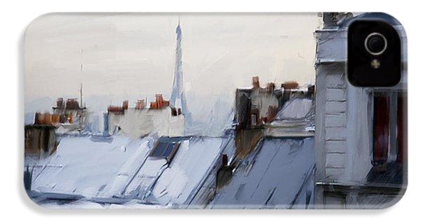 Rooftops Of Paris IPhone 4 / 4s Case by H James Hoff