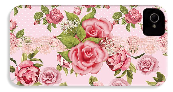Rose Elegance IPhone 4 / 4s Case by Debra  Miller