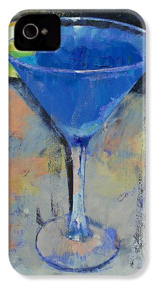 Royal Blue Martini IPhone 4 / 4s Case by Michael Creese