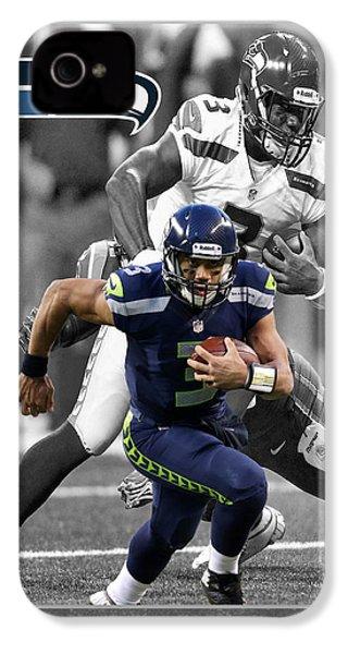 Russell Wilson Seahawks IPhone 4 / 4s Case by Joe Hamilton