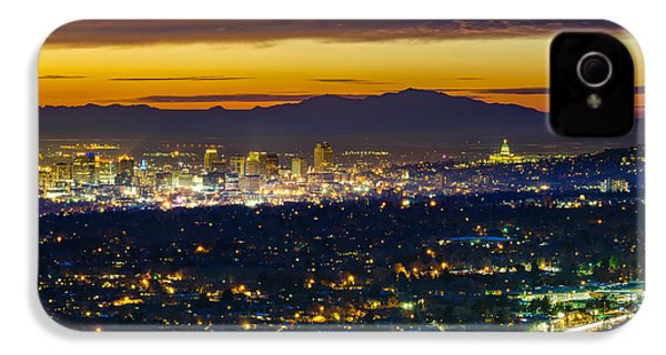Salt Lake City At Dusk IPhone 4 / 4s Case by James Udall