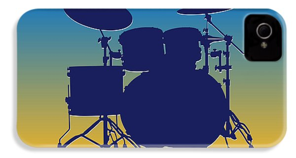 San Diego Chargers Drum Set IPhone 4 / 4s Case by Joe Hamilton