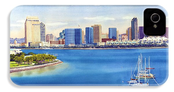 San Diego Skyline With Meridien IPhone 4 / 4s Case by Mary Helmreich
